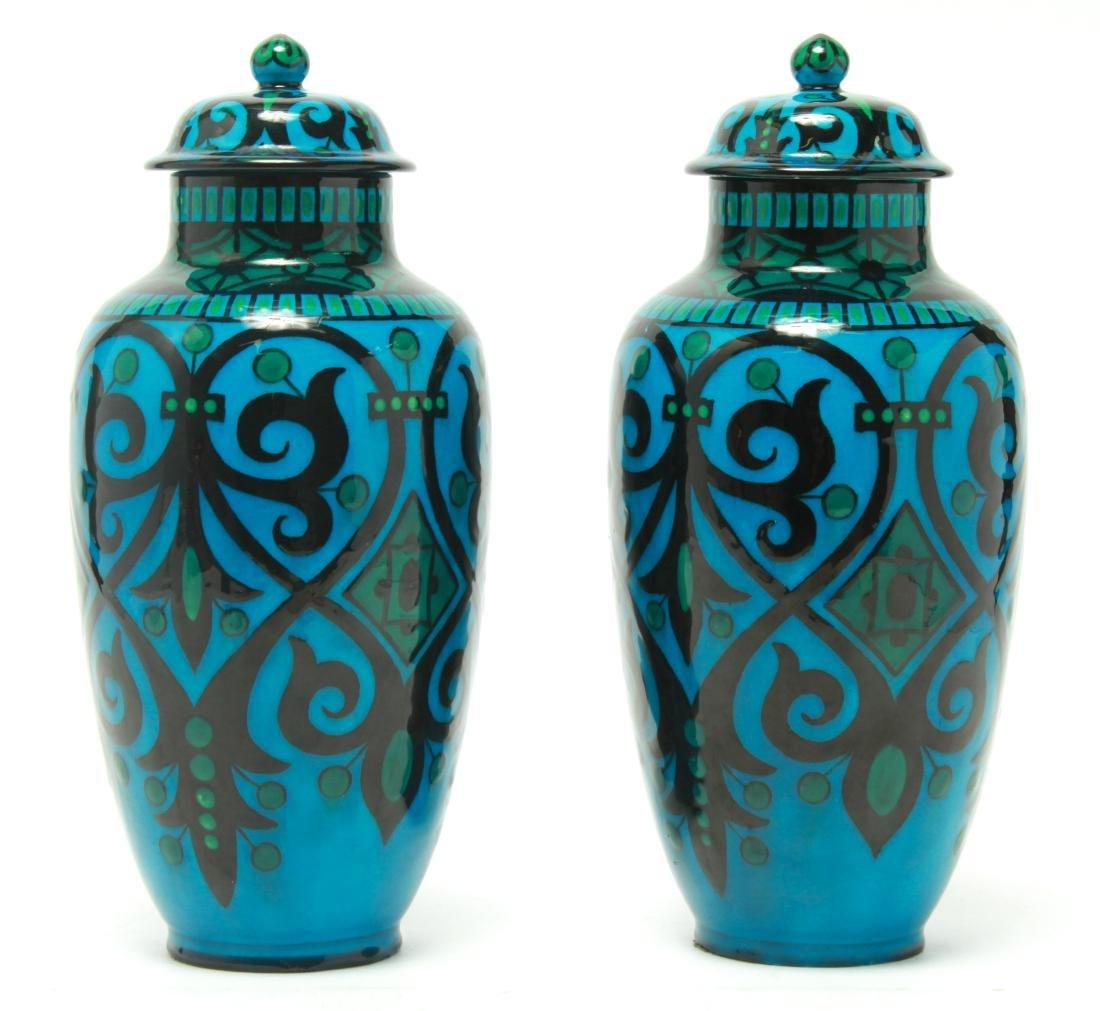 Paul Milet for Sevres Art Deco Porcelain Urns Pr