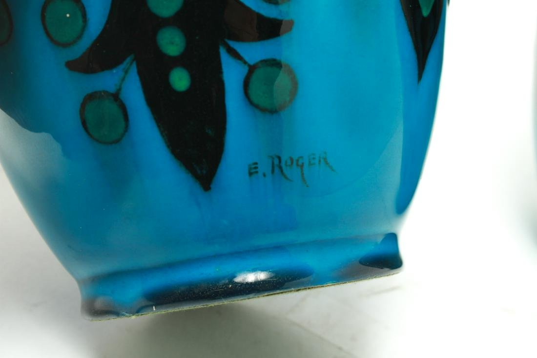Paul Milet for Sevres Art Deco Porcelain Urns Pr - 4