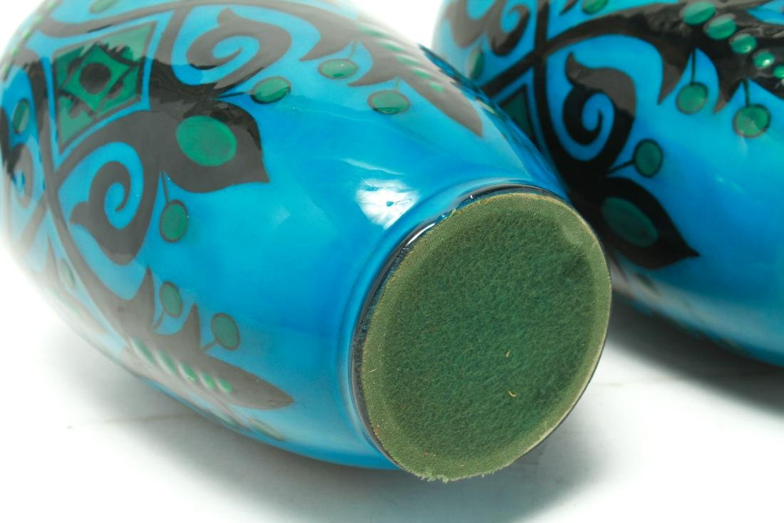 Paul Milet for Sevres Art Deco Porcelain Urns Pr - 6
