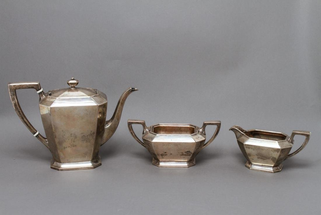 "Gorham Sterling Silver ""Fairfax"" Tea Service 3 Pcs"