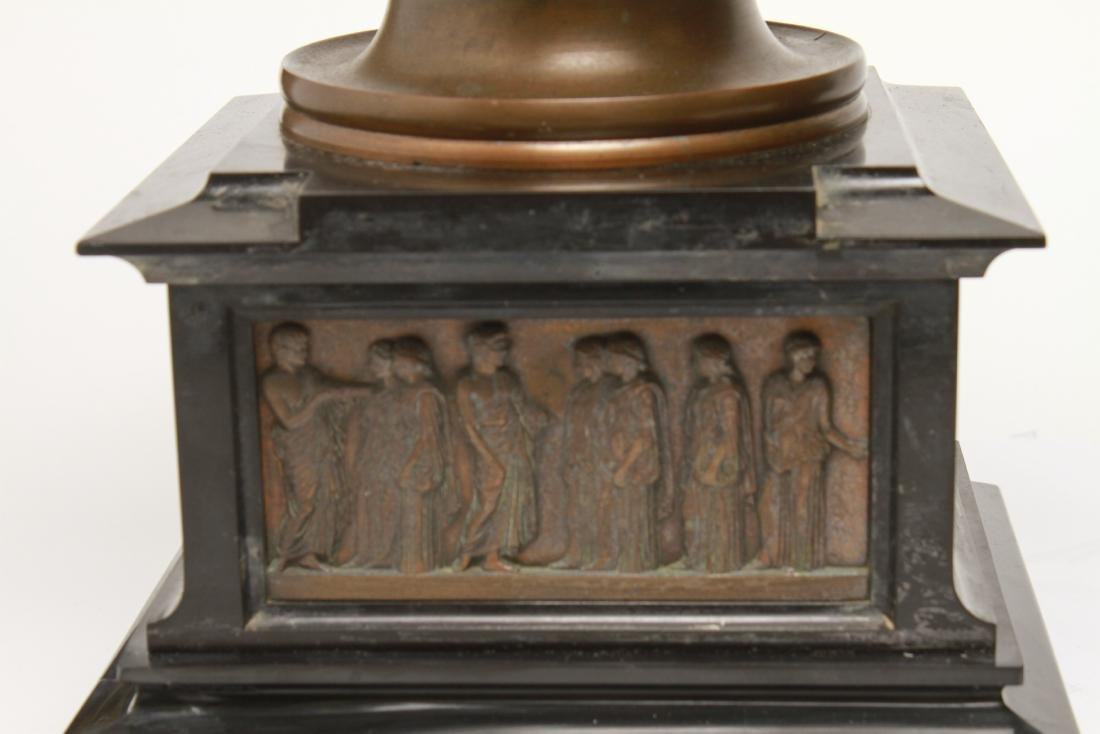 Large Neoclassical Manner Bronze & Marble Urns, Pr - 4