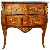 Jean-Francois Coulon French Louis XV Bombe Commode
