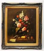 P. Gallinard Dutch Manner Still Life Oil on Canvas