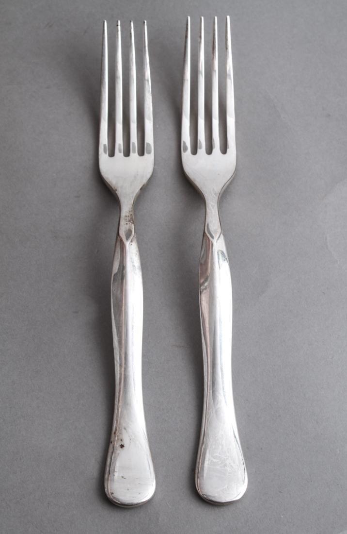 Rare Bulgari Eccentrica Silver Serving Forks, Pair