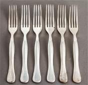 Rare Bulgari Eccentrica Silver Lunch Forks Set 6