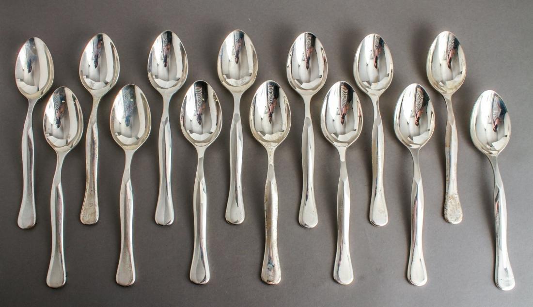 Rare Bulgari Eccentrica Silver Tablespoons Set 14