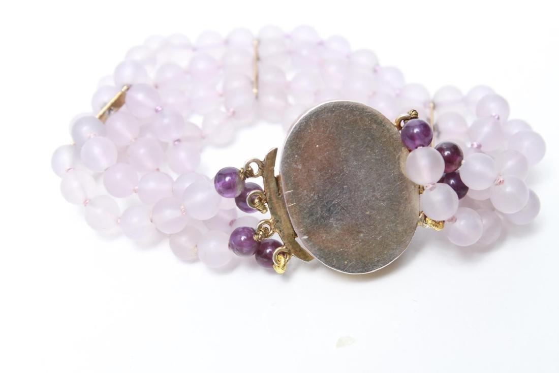 Amethyst Silver Vermeil Necklace & Bracelet Set - 10