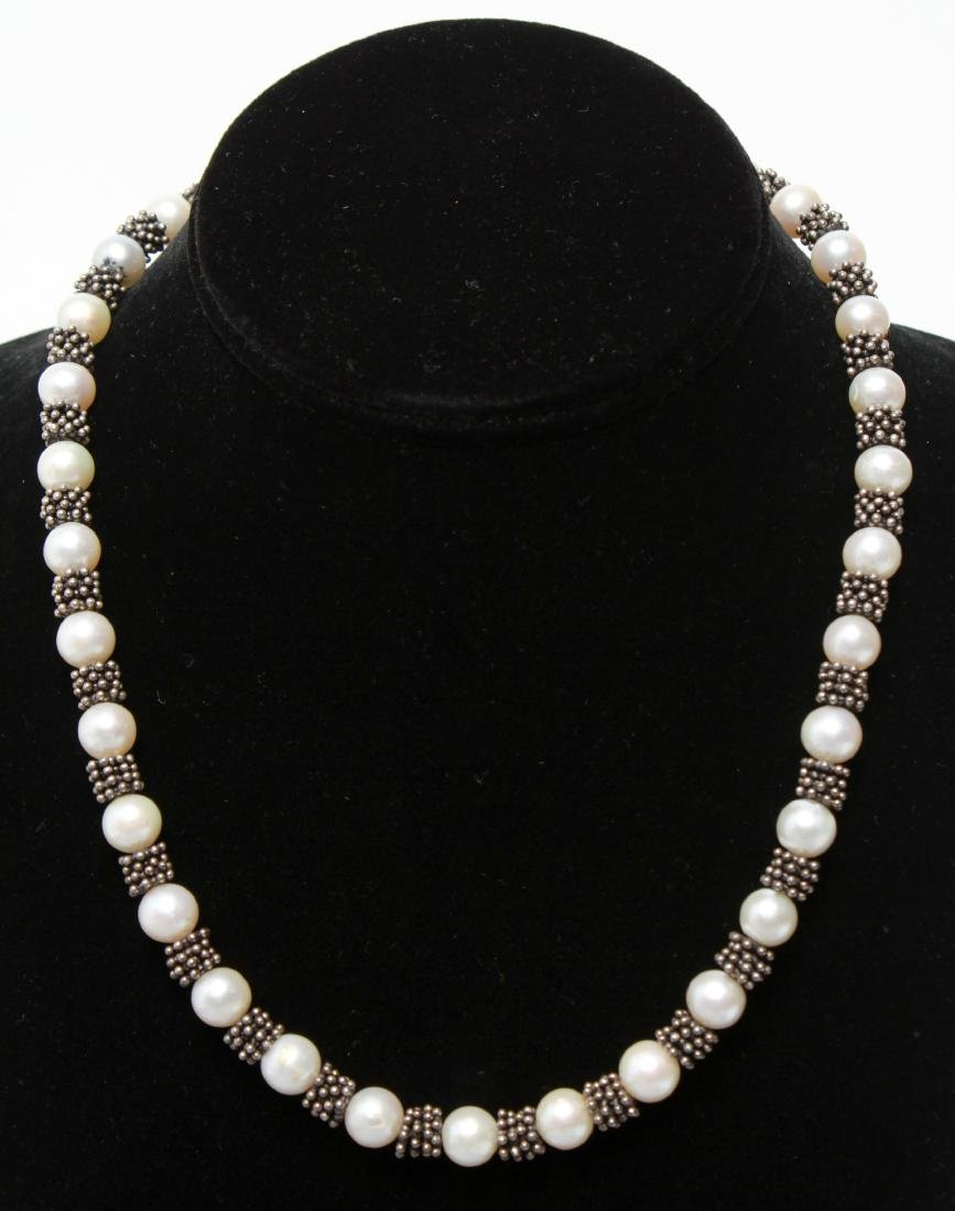 Sterling Silver & Pearls Necklace