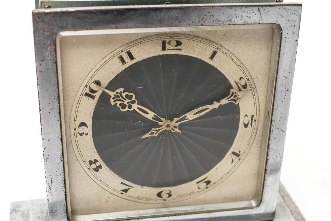 Art Deco Omega Double-Sided Desk Clock Chrome - 4
