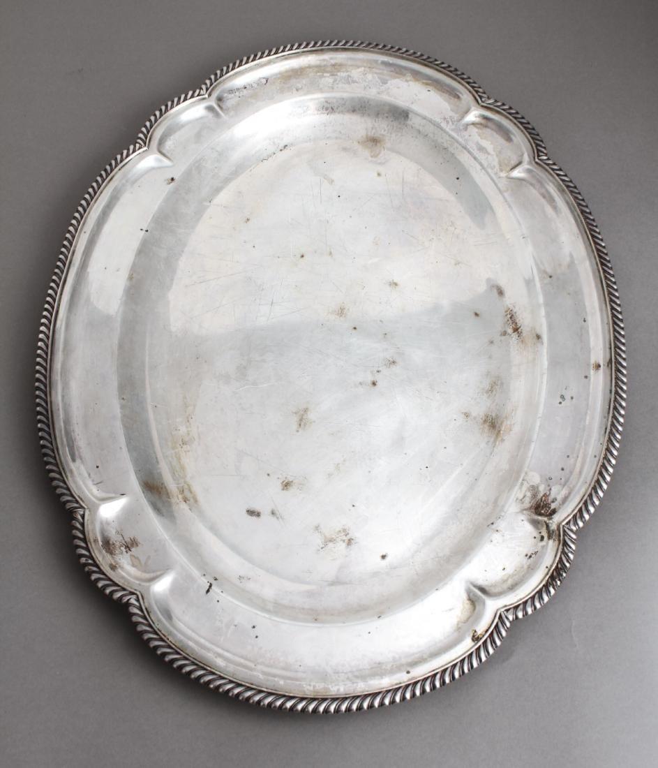 Sterling Silver Lobed Serving Platter - 2