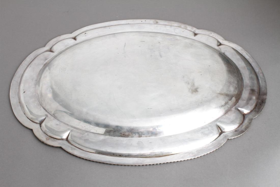 Sterling Silver Lobed Serving Platter - 3