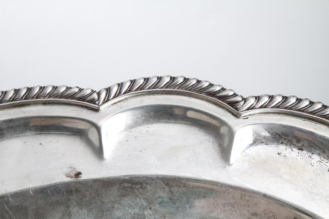 Sterling Silver Lobed Serving Platter - 6