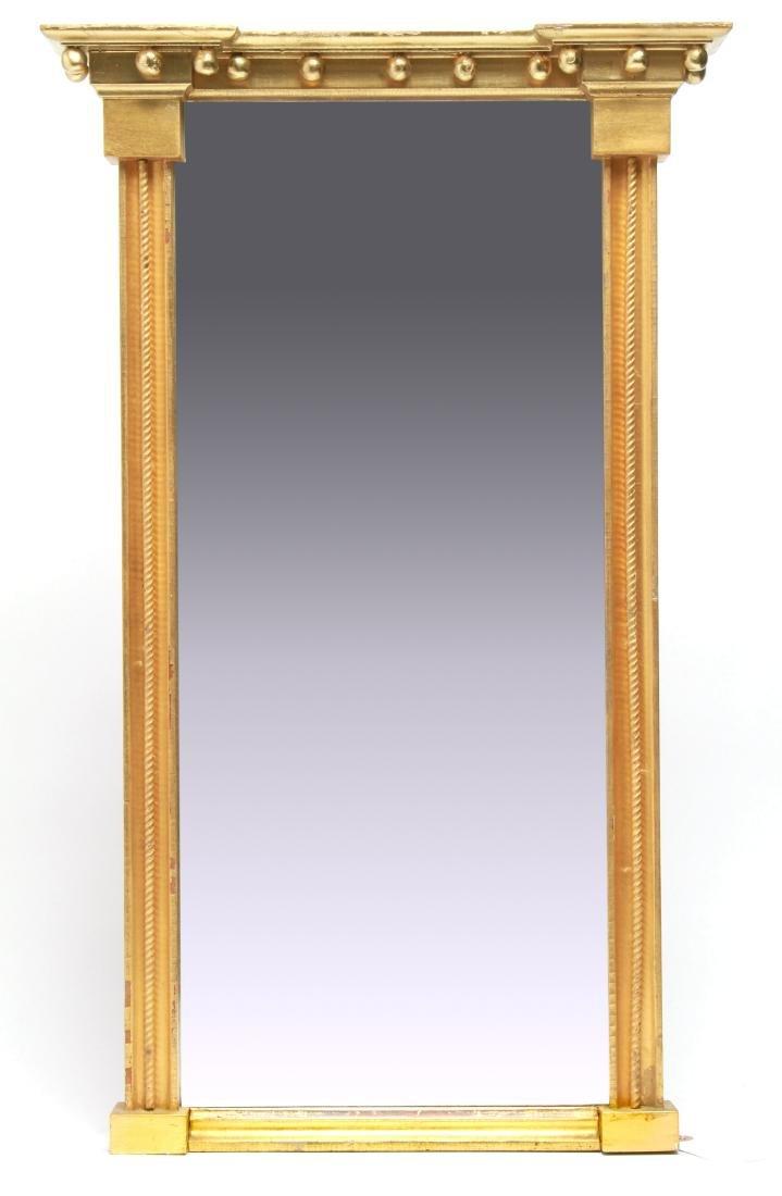 American Federal Giltwood Pier Mirror w Spheres