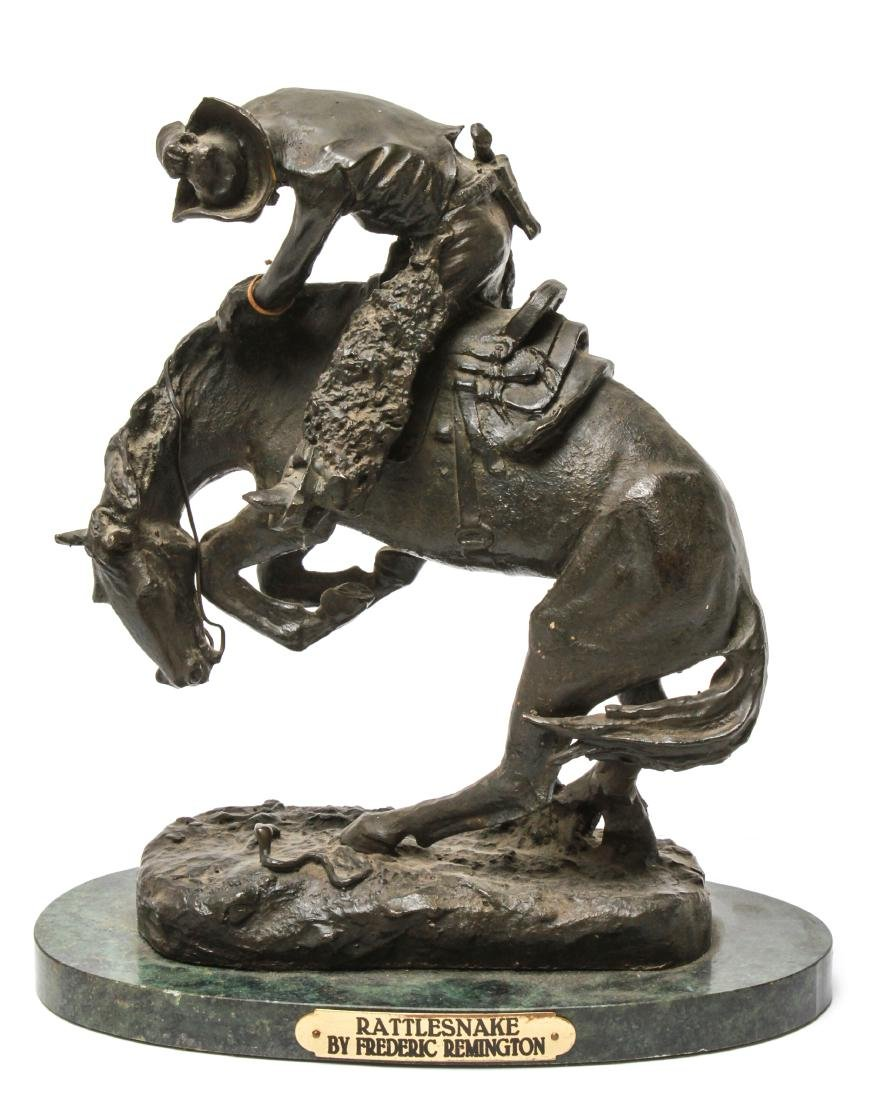 "After Frederic Remington ""Rattlesnake"" Bronze"