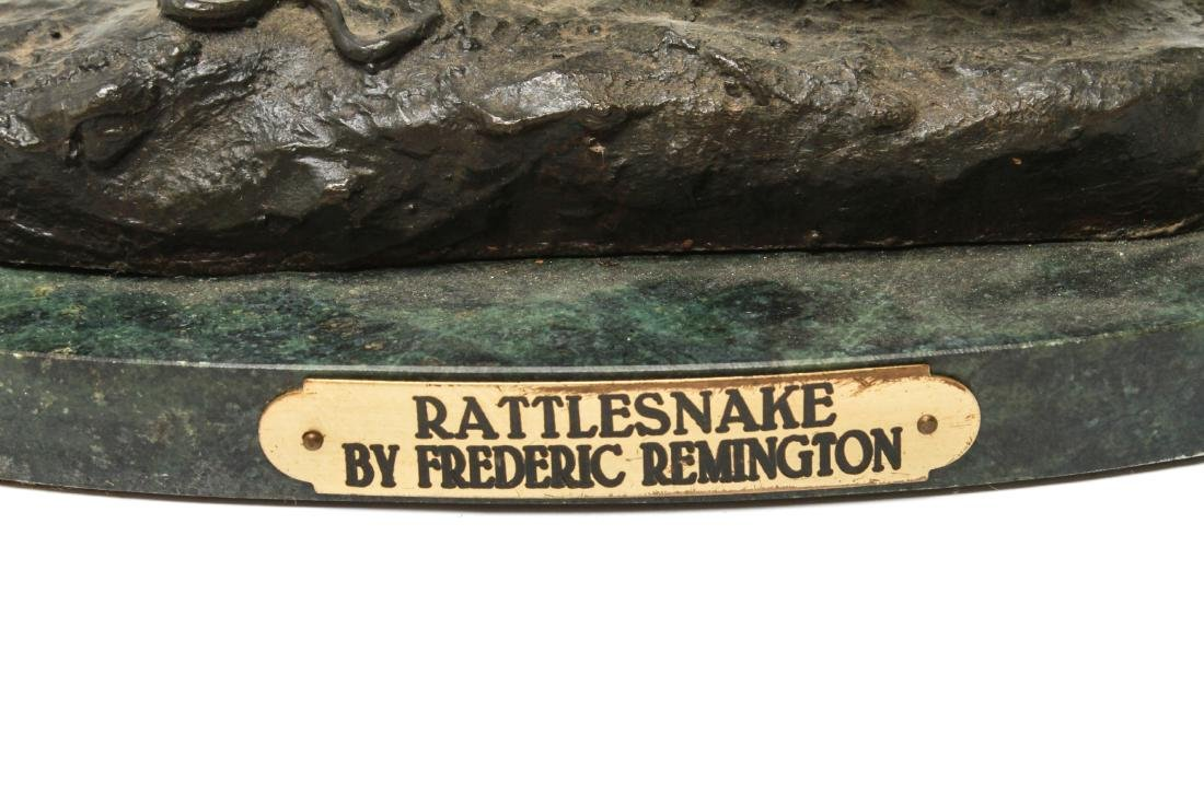 "After Frederic Remington ""Rattlesnake"" Bronze - 2"