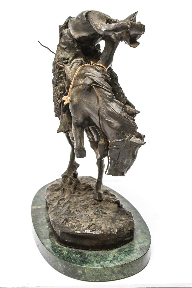 "After Frederic Remington ""Rattlesnake"" Bronze - 4"