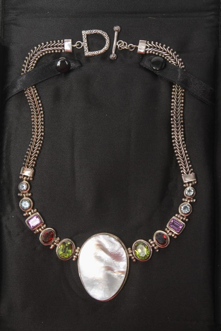 Sterling Silver & Semi-Precious Stones Necklace