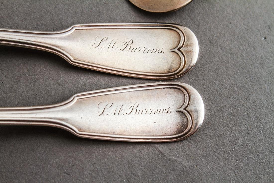Coin Silver Spoons, Various Makers, Group of 9 - 2