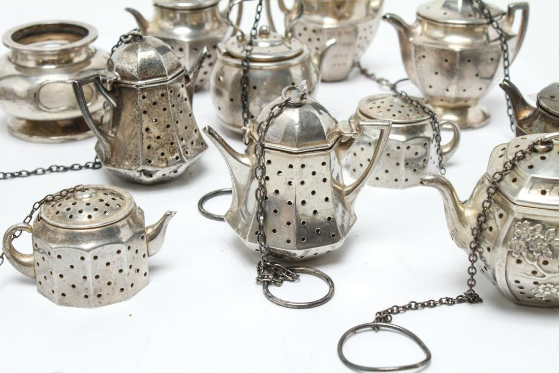 Sterling Silver Teapot Form Tea Balls Group of 23 - 3