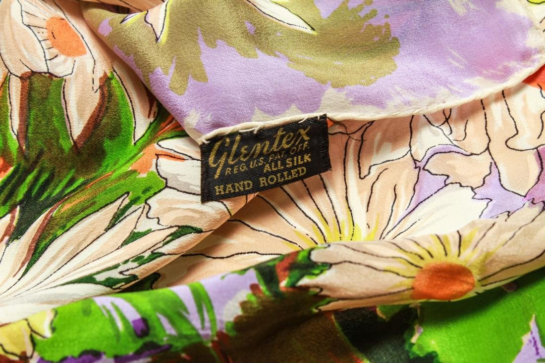 Ladies' Vintage Silk Scarves, Group of 4 - 2