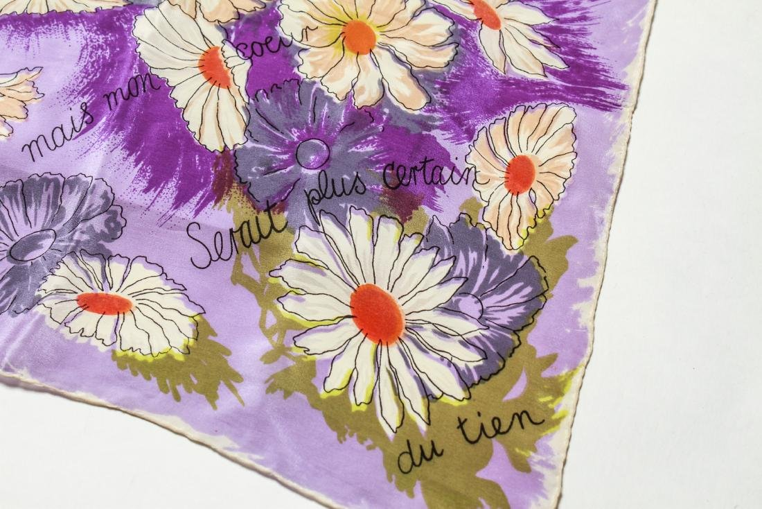 Ladies' Vintage Silk Scarves, Group of 4 - 3