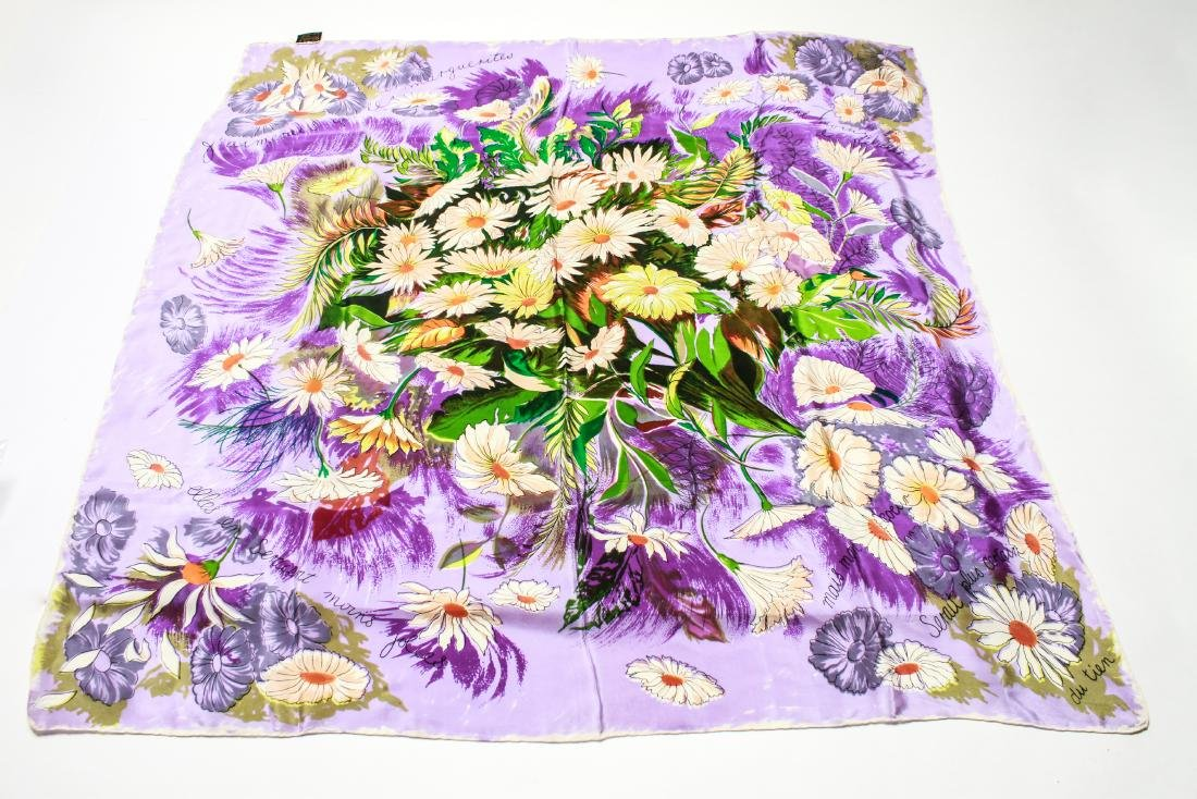 Ladies' Vintage Silk Scarves, Group of 4 - 4