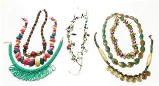 Ladies Vintage Costume Jewelry Necklaces 7 Pcs