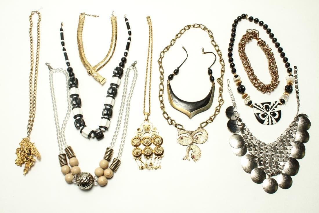 Ladies' Vintage Costume Jewelry Necklaces 10 Pcs.