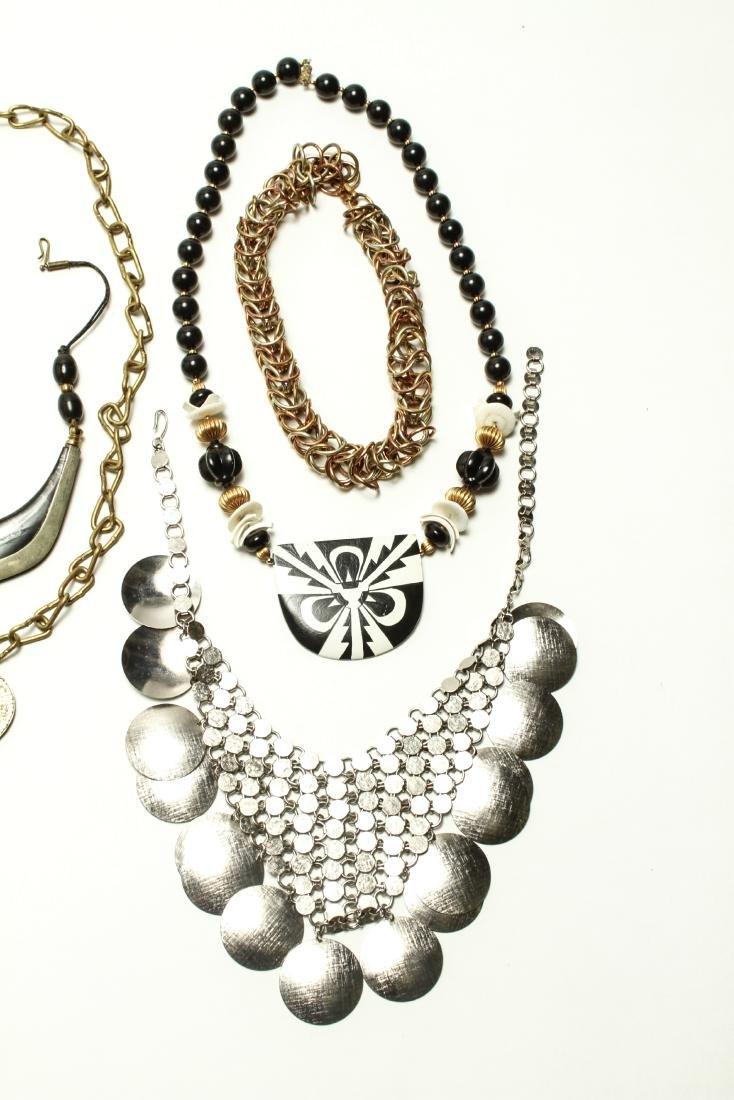 Ladies' Vintage Costume Jewelry Necklaces 10 Pcs. - 2