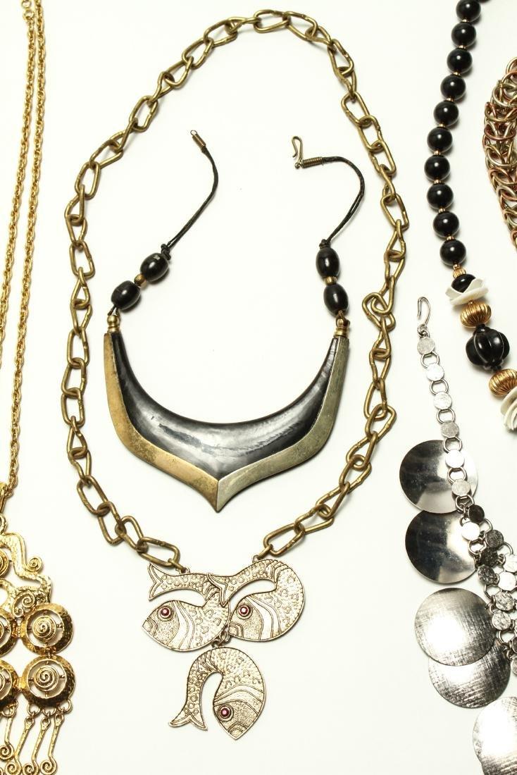 Ladies' Vintage Costume Jewelry Necklaces 10 Pcs. - 3