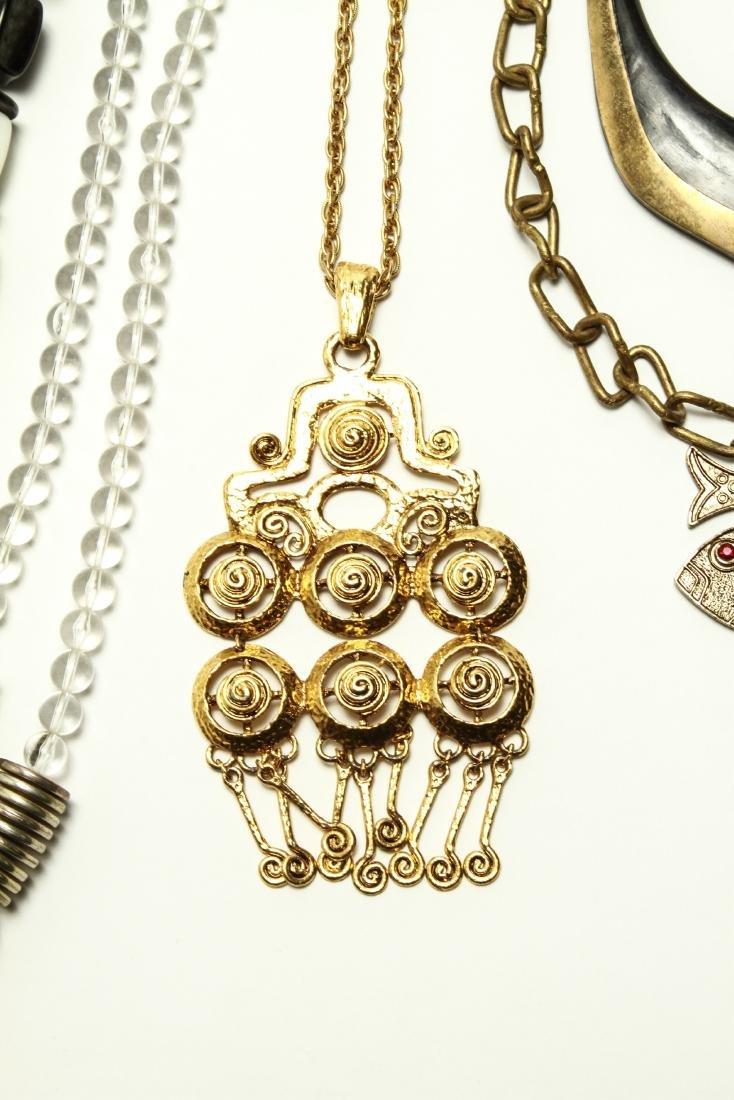 Ladies' Vintage Costume Jewelry Necklaces 10 Pcs. - 4