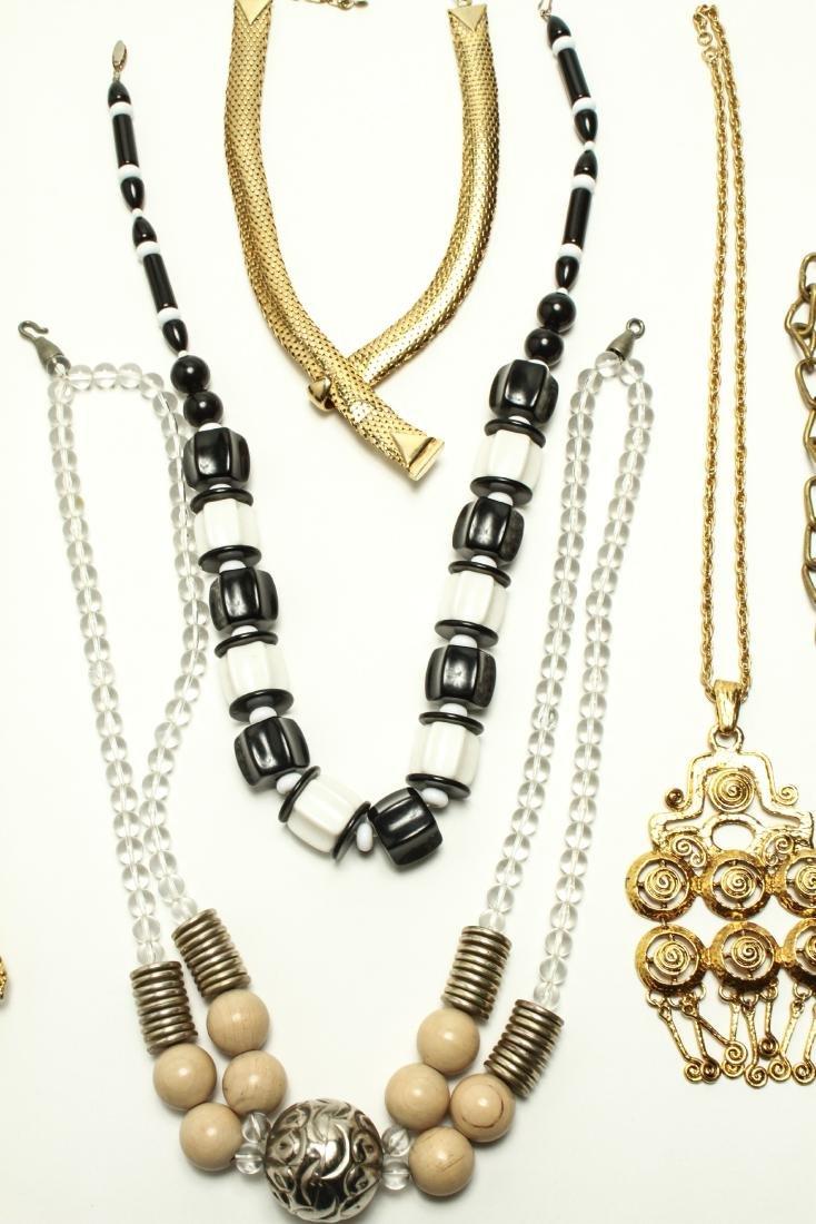 Ladies' Vintage Costume Jewelry Necklaces 10 Pcs. - 5