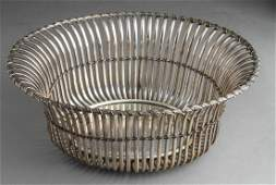 Portuguese Silver Jardiniere Basket Centerpiece