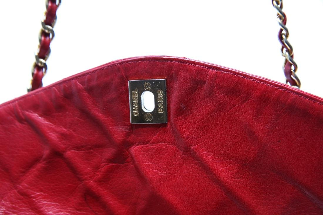 Chanel Vintage Red Leather Shoulder Bag - 10