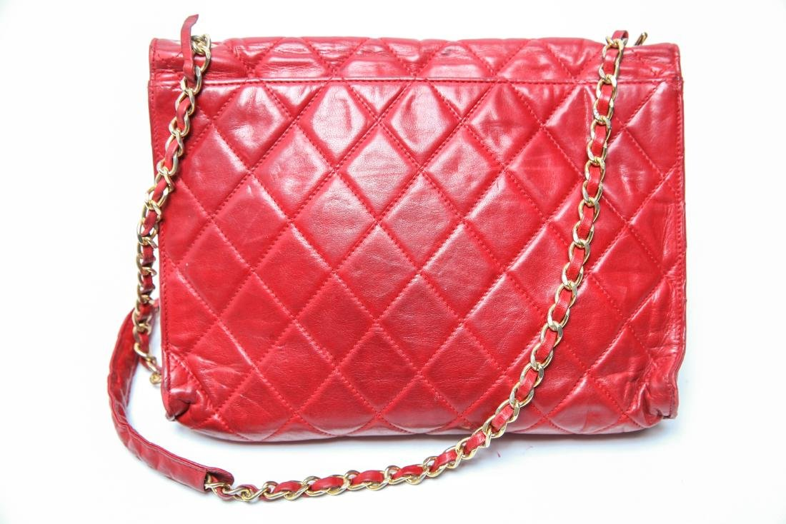 Chanel Vintage Red Leather Shoulder Bag - 11