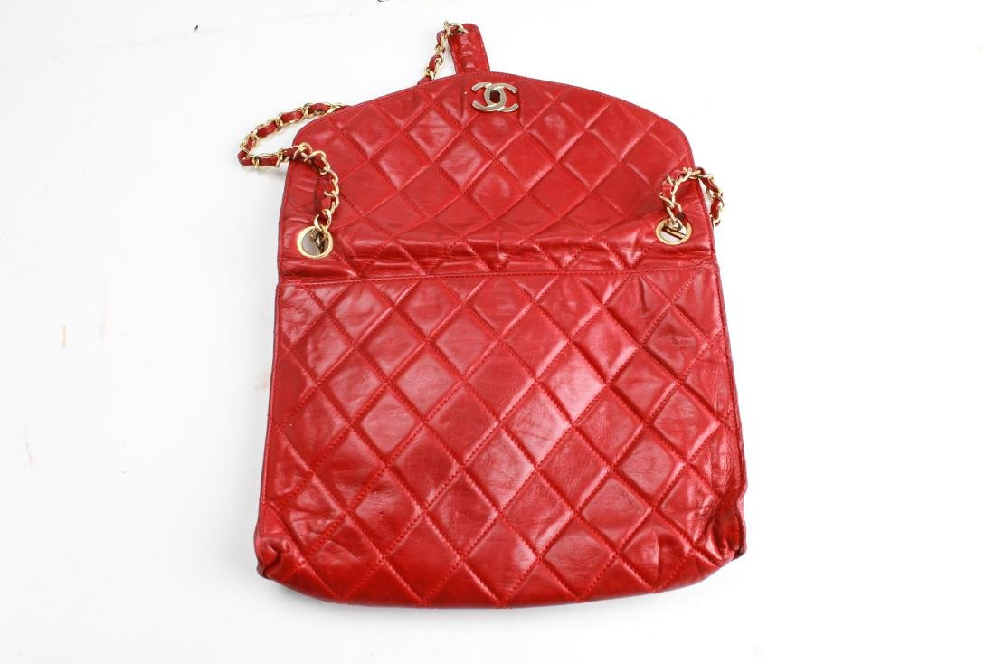 Chanel Vintage Red Leather Shoulder Bag - 6