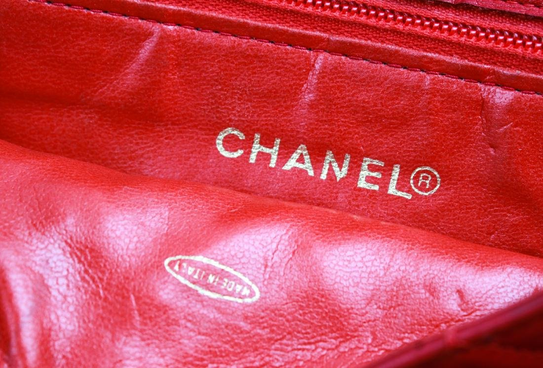 Chanel Vintage Red Leather Shoulder Bag - 7