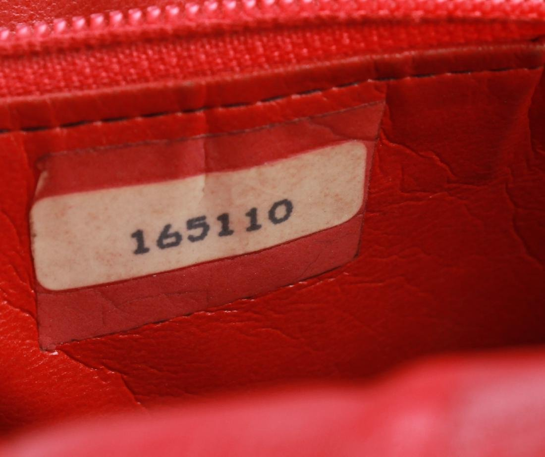 Chanel Vintage Red Leather Shoulder Bag - 8