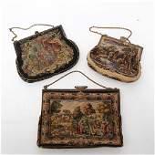Vintage Ladies' Embroidered Handbags, Group of 3