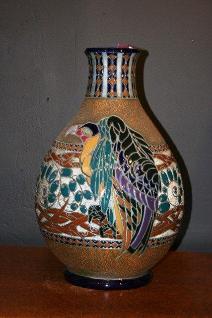 11: Large Austrian Amphora Vase with Vulture Motif