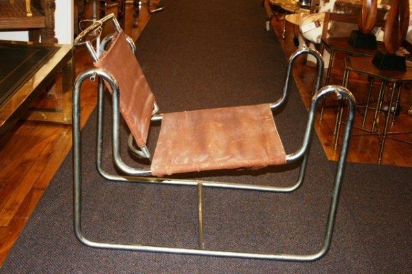 12: French Chrome Eames Era Modernist Prototype Chair