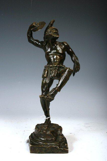 14: Signed European Bronze Figure of a Warrior c.1910