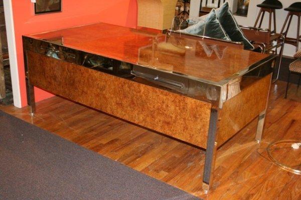 16: Large Eames Era Chrome & Burlwood Pace Collection D