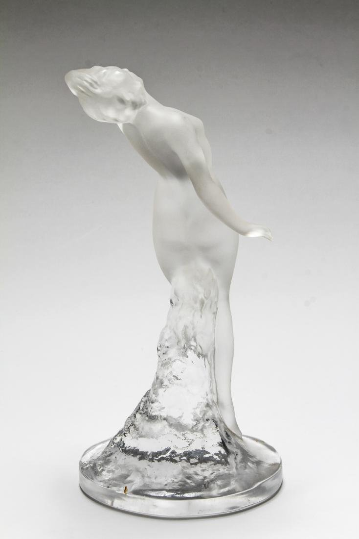 Lalique Frosted Art Glass Figural Sculptures, 2 - 6