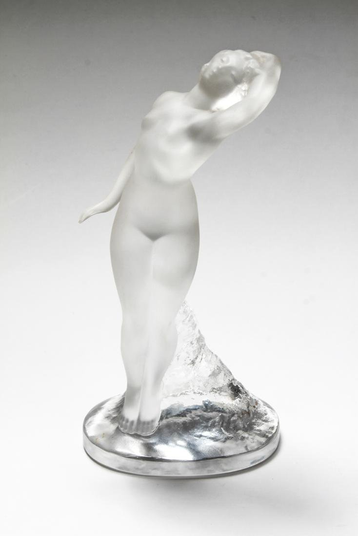 Lalique Frosted Art Glass Figural Sculptures, 2 - 7