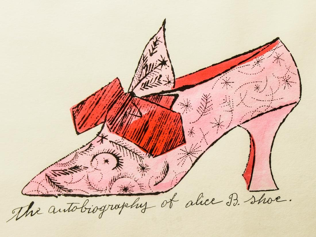 "Andy Warhol ""Alice B. Shoe"" Watercolor Lithograph - 2"