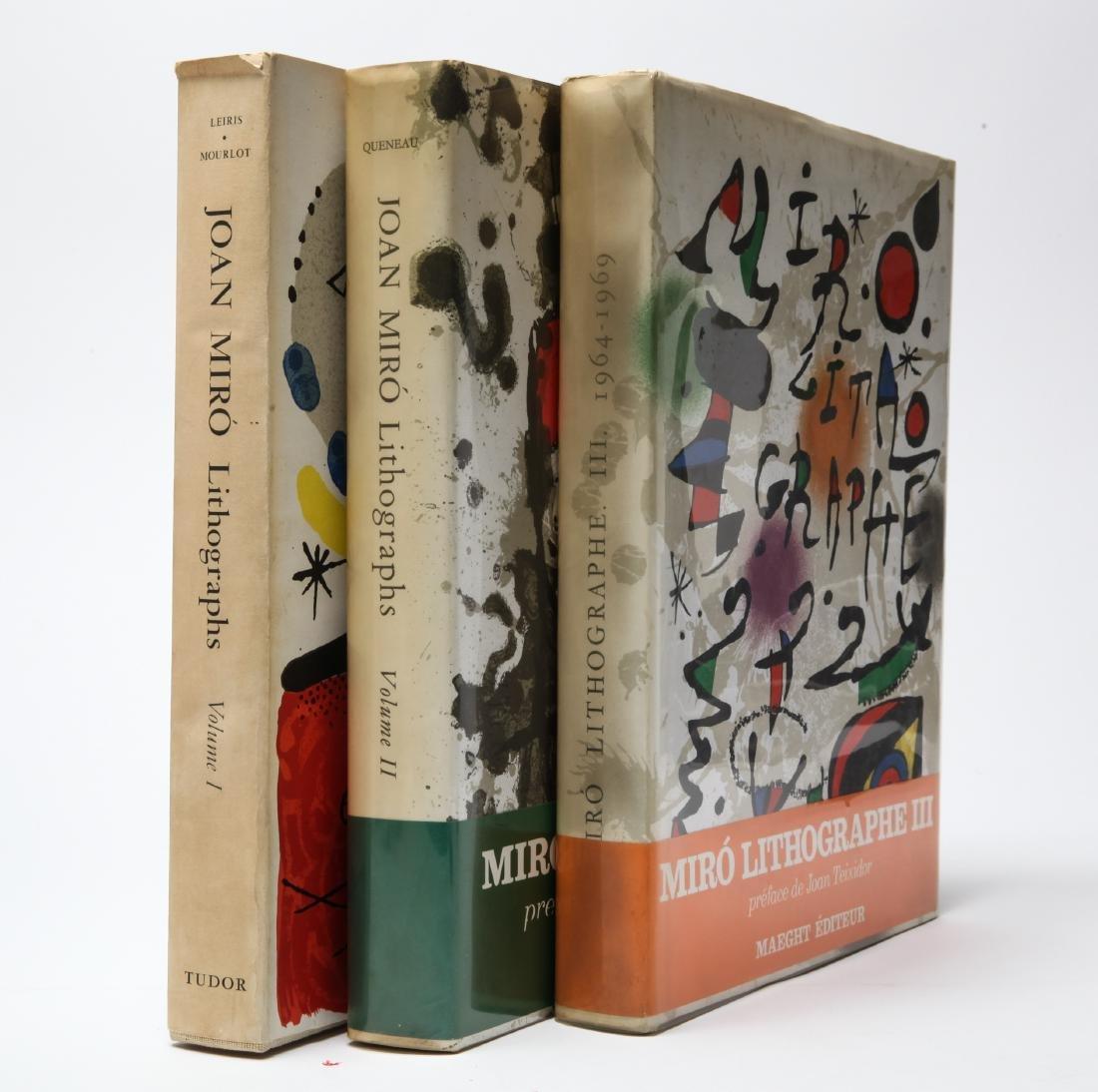 Joan Miro Lithograph Catalogue Raisonne, 3 Volumes