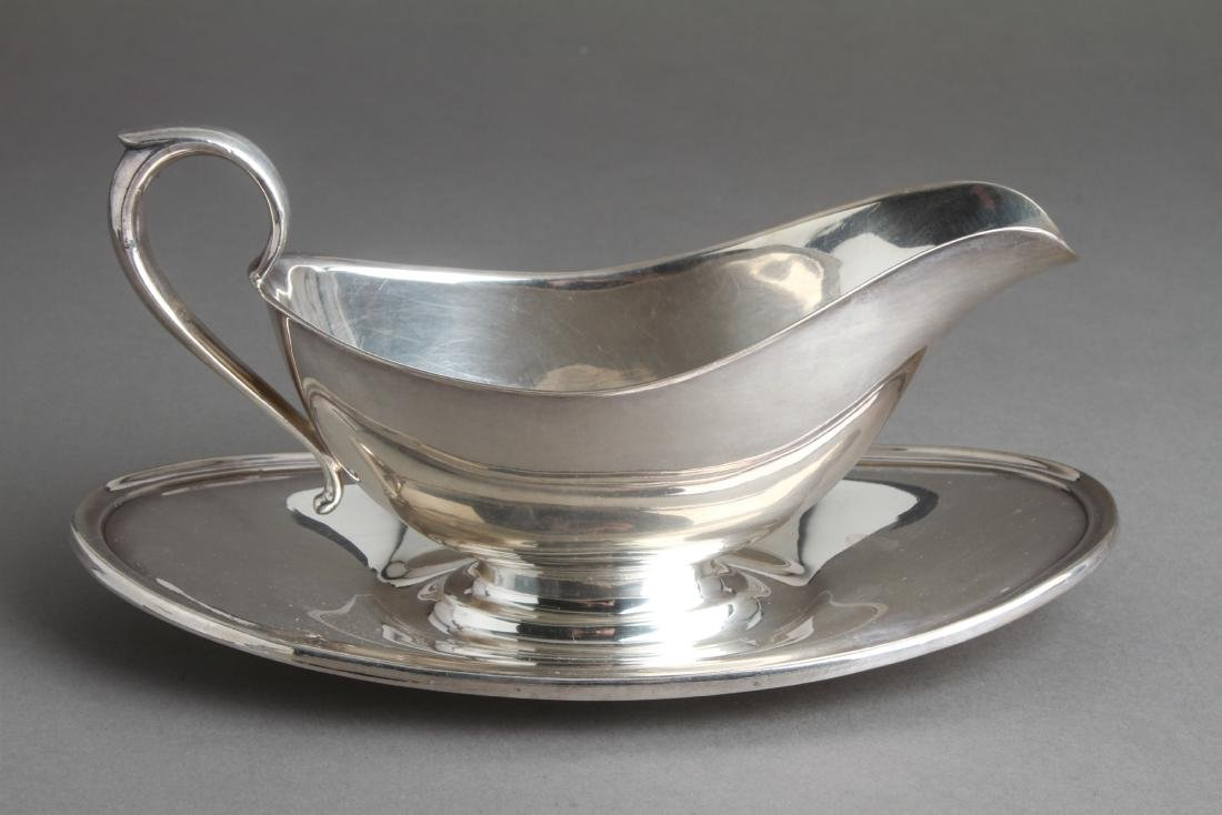 Gorham Sterling Silver Sauce Boat w Underplate