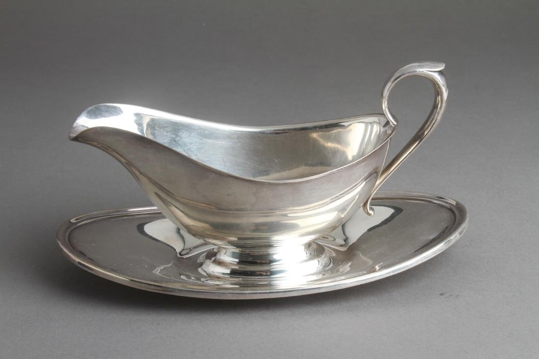 Gorham Sterling Silver Sauce Boat w Underplate - 3