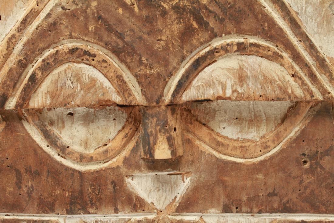 African Congo Bateke Flat Mask Carved Wood - 2